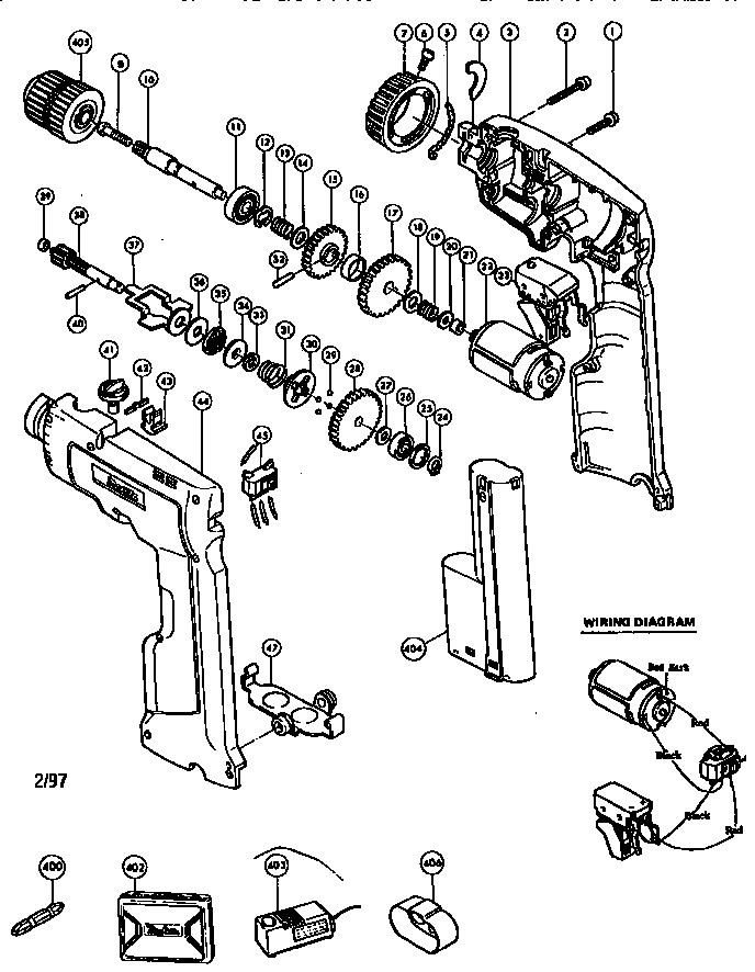 Makita model 6011D drill driver genuine parts