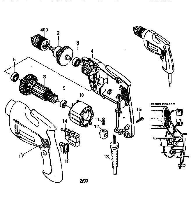 Makita model 6406 drill cordless genuine parts