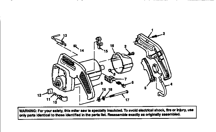 Craftsman model 113235221 miter saw genuine parts