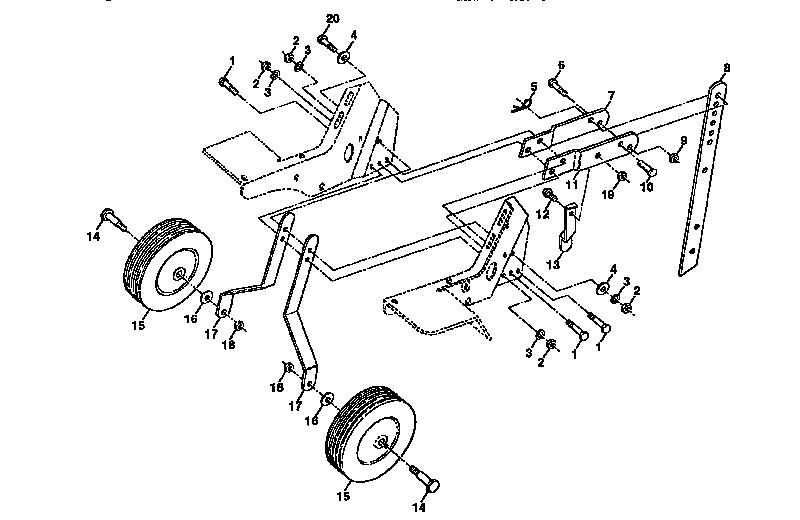 Western-Auto model 3332A79 rear tine, gas tiller genuine parts