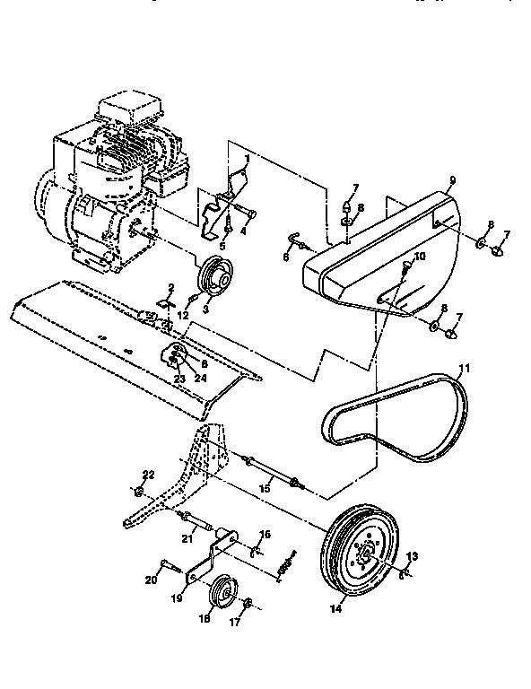Western-Auto model 3352A79 rear tine, gas tiller genuine parts