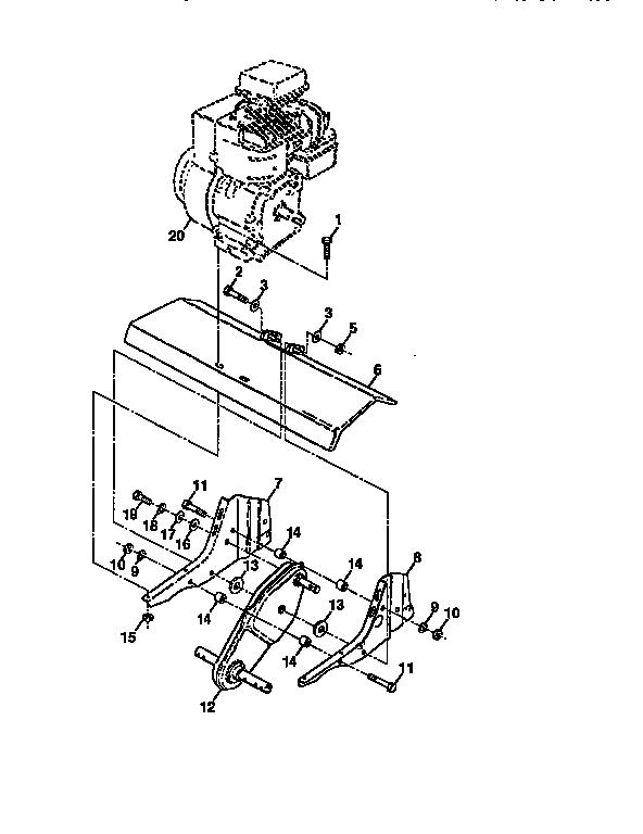 Western-Auto model 3355A79 rear tine, gas tiller genuine parts