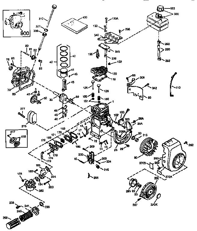 Craftsman model 143973505 engine genuine parts