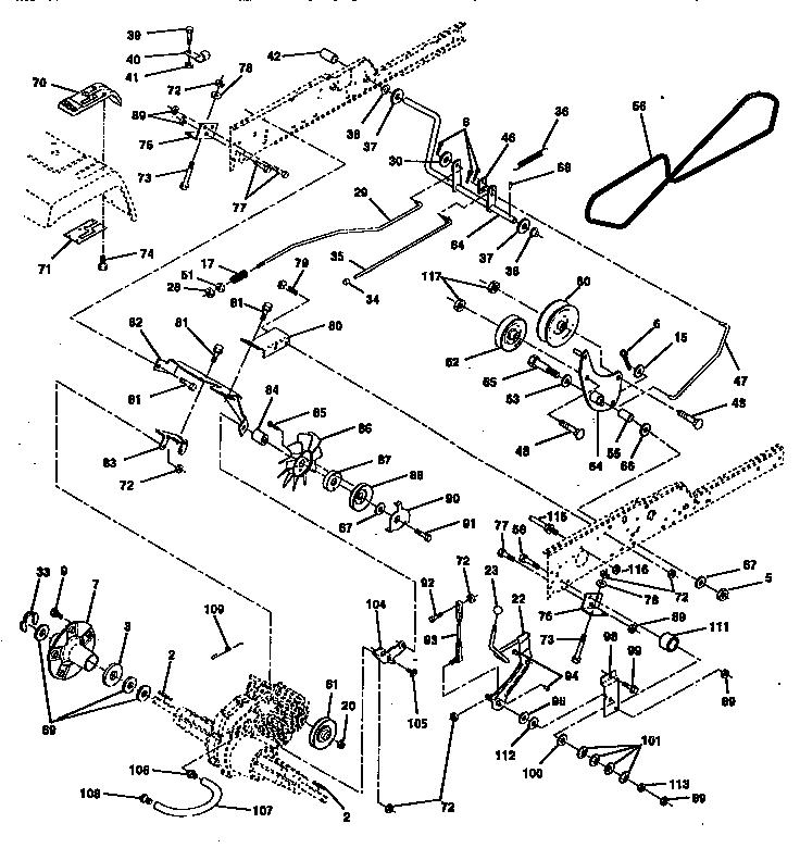 Craftsman model 917258970 lawn, tractor genuine parts