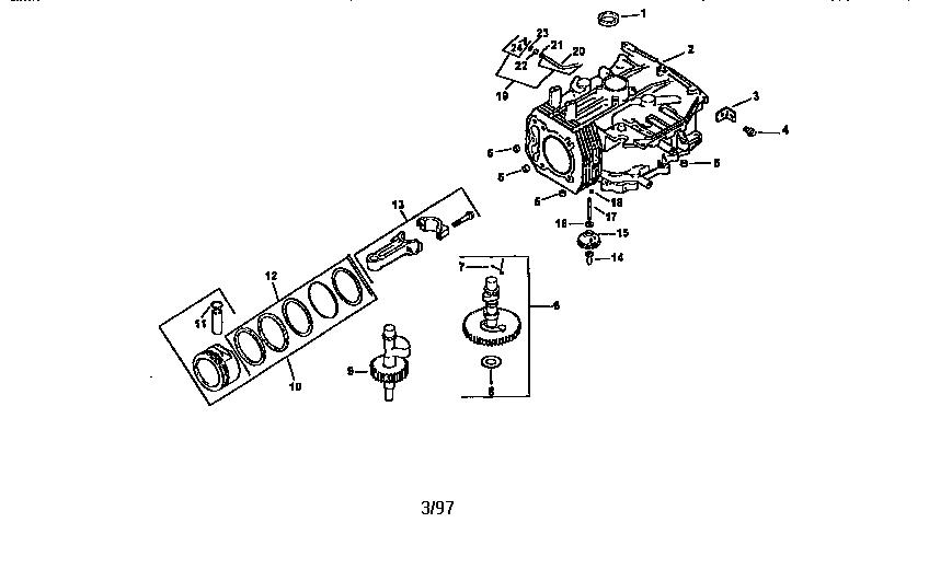 Kohler model CV16S-43509 engine genuine parts