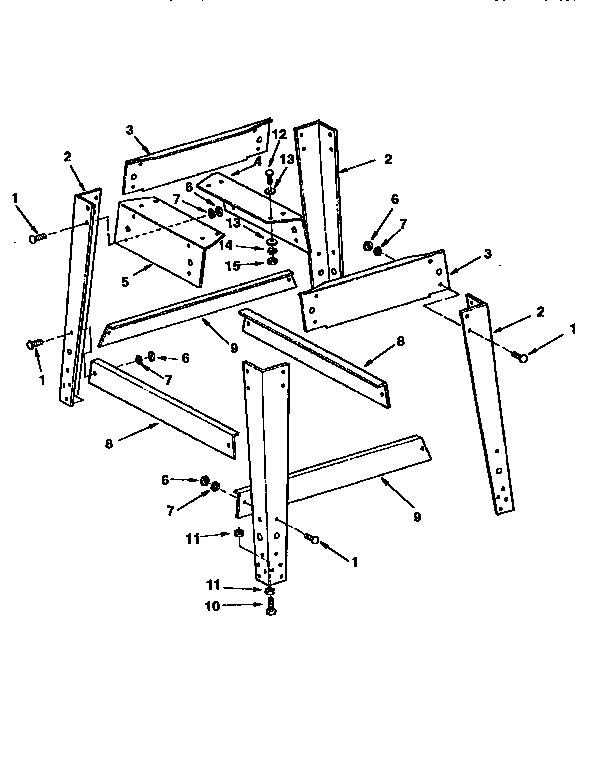 Craftsman model 113299510 saw table genuine parts