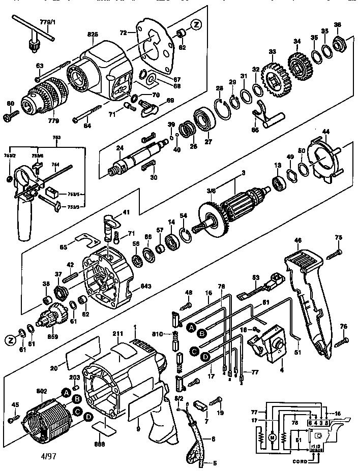 Bosch model 0601194739 drill hammer genuine parts
