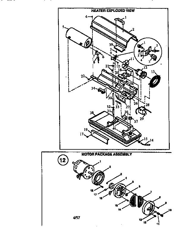 Reddy model R35B space heaters/wall unit genuine parts