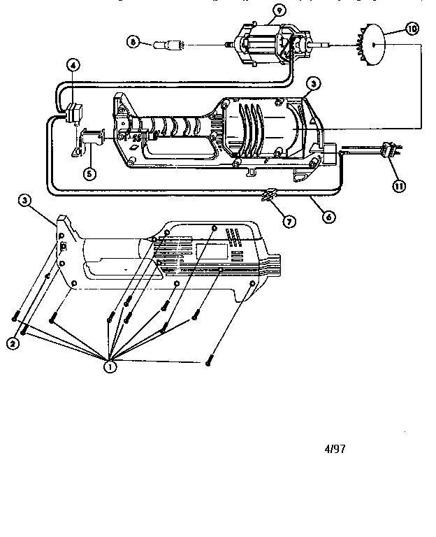 Craftsman model 316799170 line trimmer/weedwacker