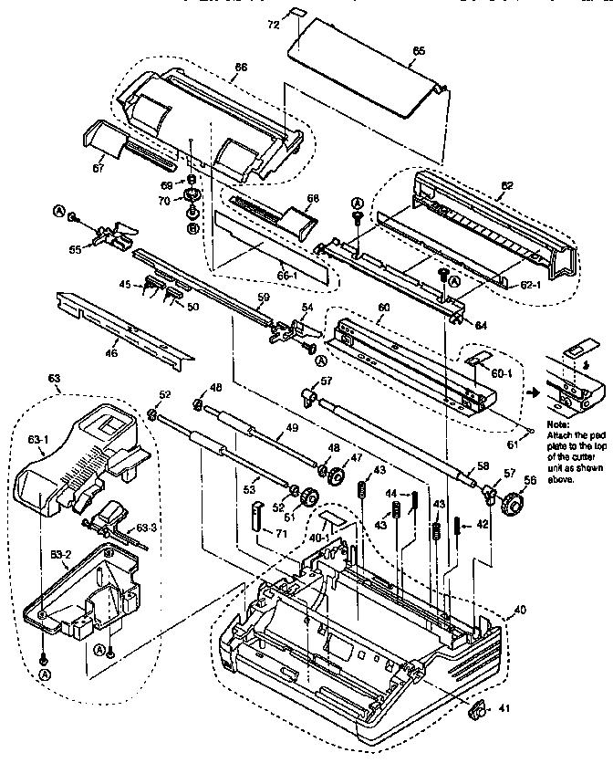 Panasonic model KX-F780 fax machines genuine parts