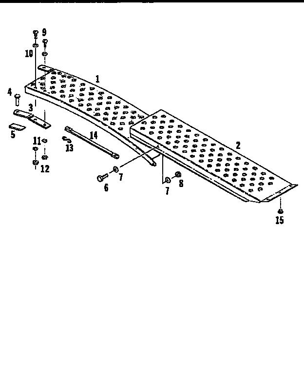 Craftsman model 61024649 cart/dump cart attachment genuine