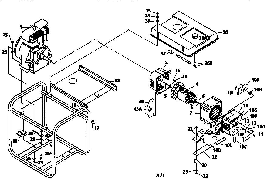 Coleman model PL0545202 generator genuine parts
