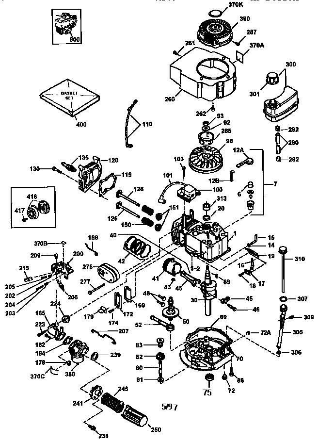 Craftsman model 143973800 engine genuine parts
