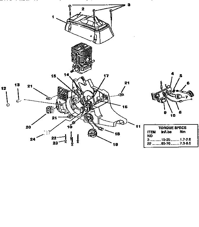 Homelite model Z3850-18 INCH chainsaw, gas genuine parts