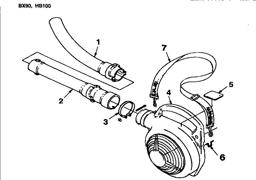 Homelite model BX90-UT08026-D blower, gas genuine parts
