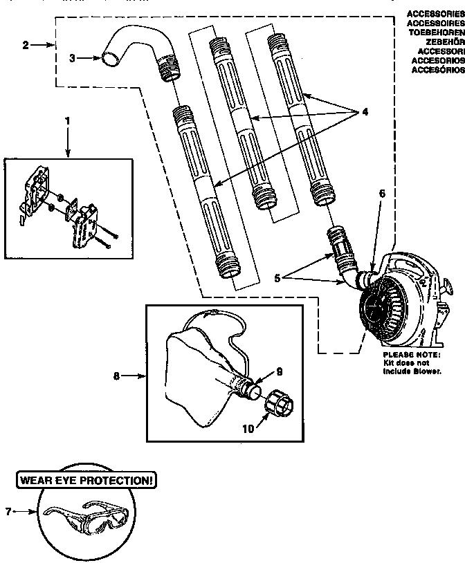 Homelite model HB-180-V UT08010-C blower, gas genuine parts