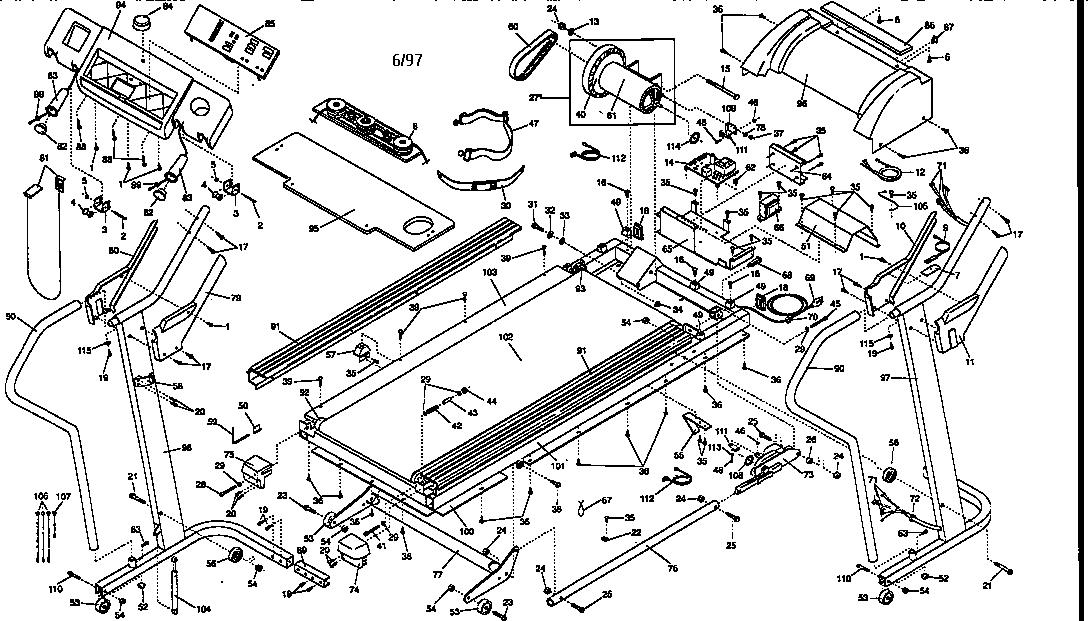 Nordictrack model NTTL99061 treadmill genuine parts