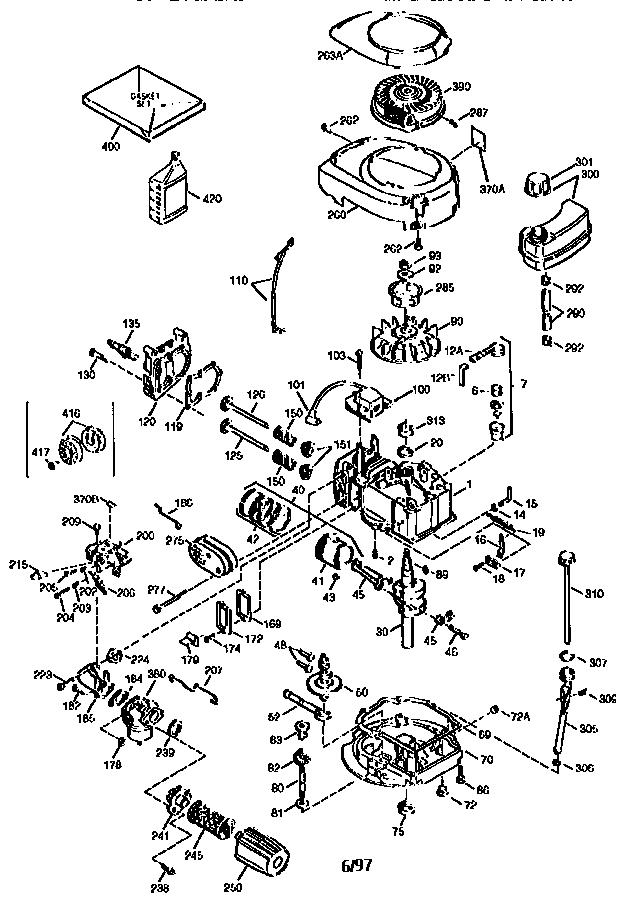 Tecumseh model TVS115--61066D engine genuine parts