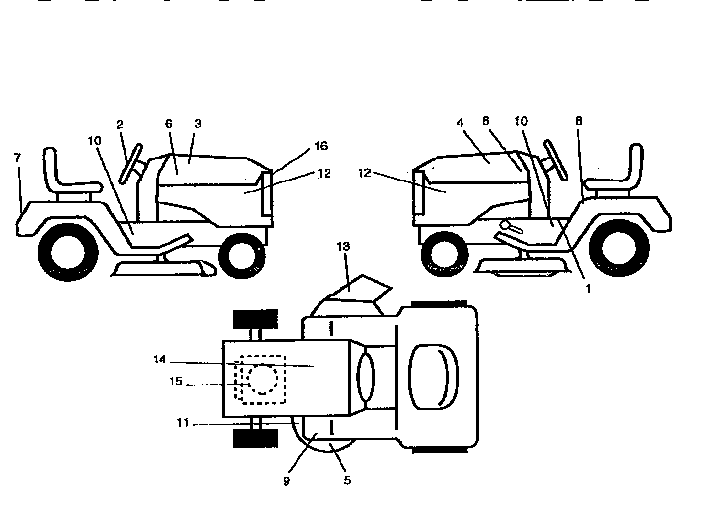Western-Auto model AYP7167A79 lawn, tractor genuine parts
