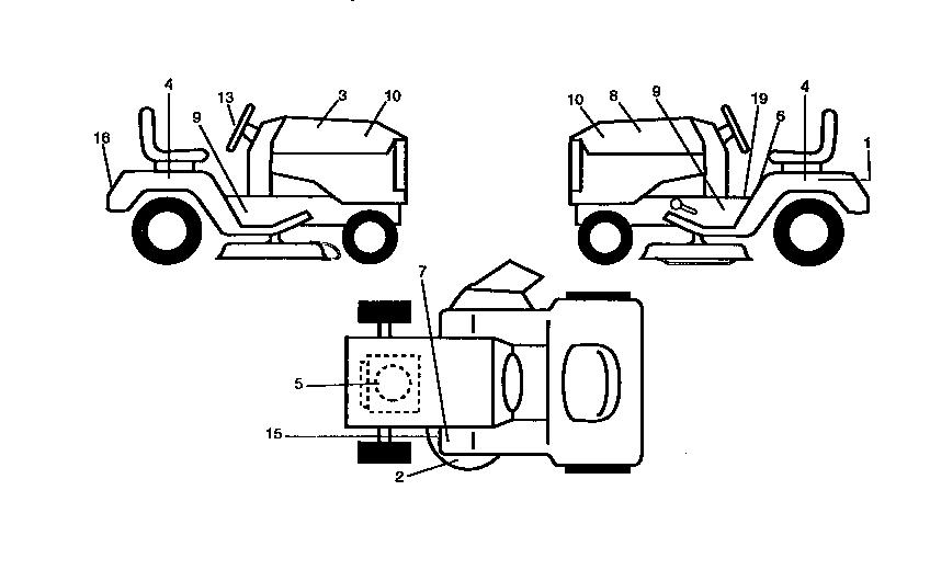 Western-Auto model AYP9182B79 lawn, tractor genuine parts