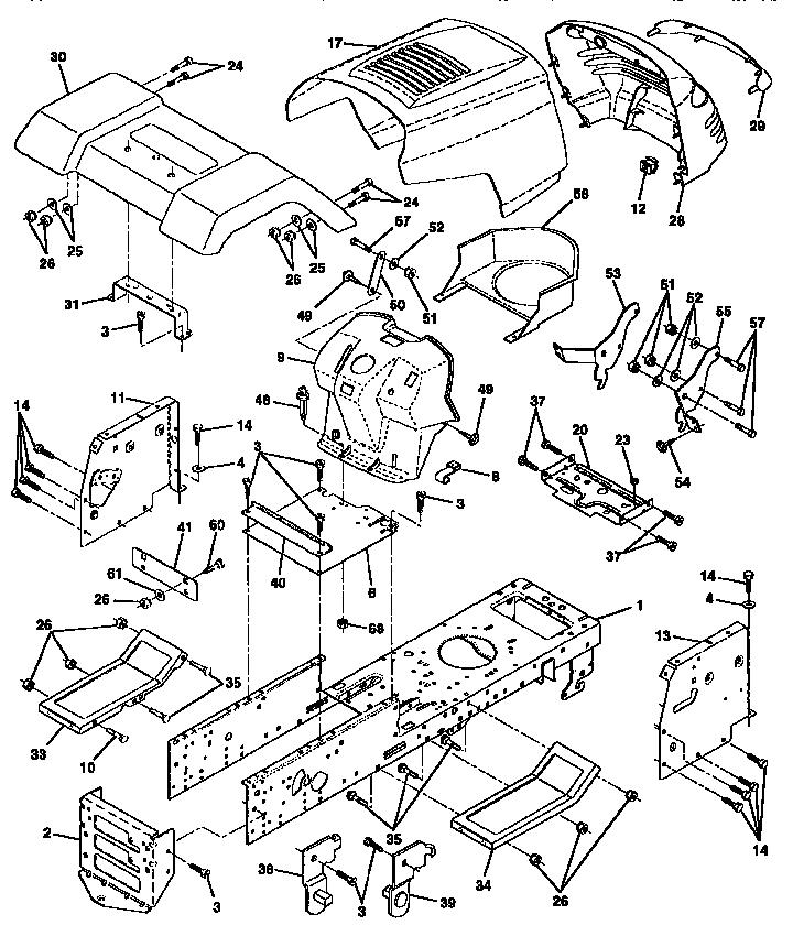 Wizard model AYP7159A69 lawn, tractor genuine parts