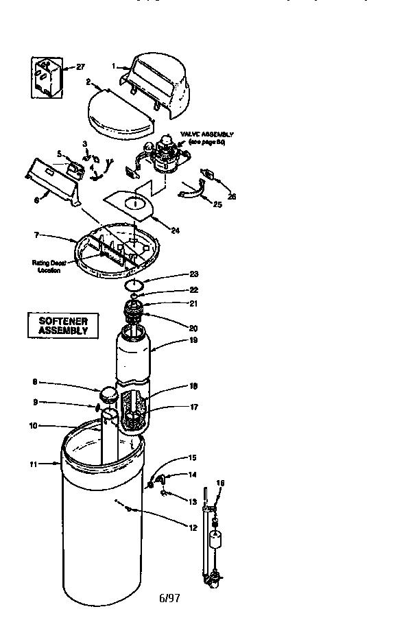 Kenmore model 625348490 water softener genuine parts