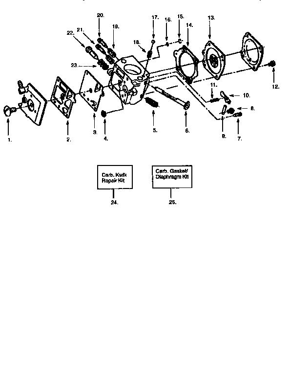 Poulan model 3500 chainsaw, gas genuine parts