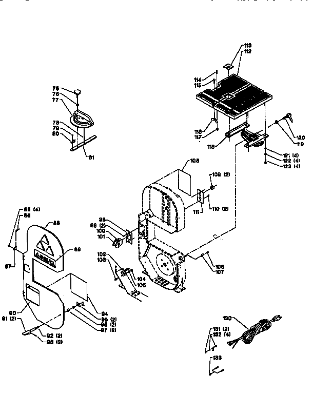 Delta model 28-180 band saw genuine parts