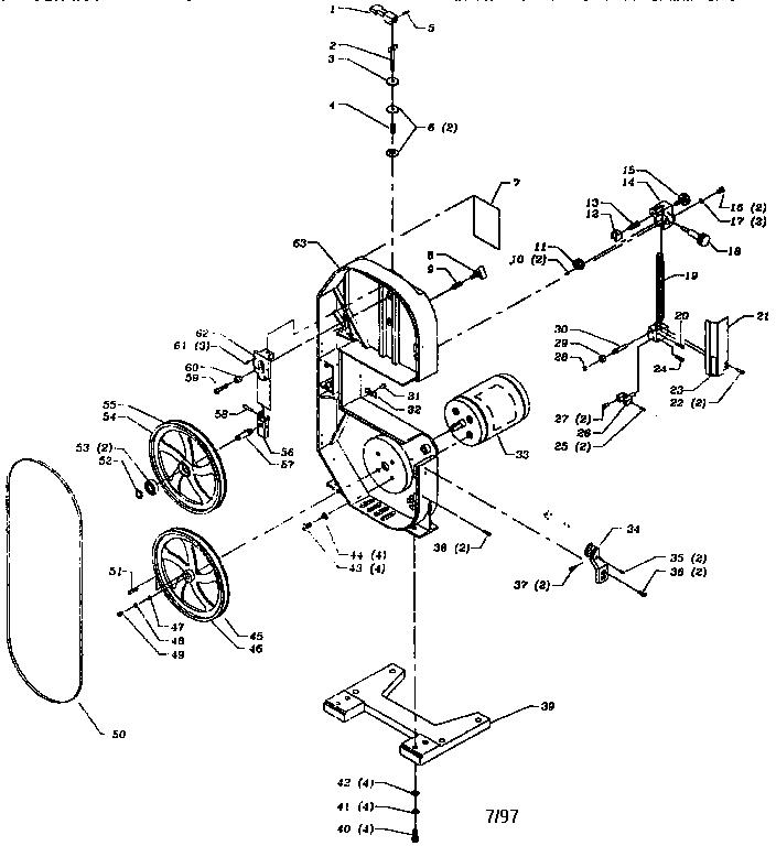 Delta model 28-185 band saw genuine parts