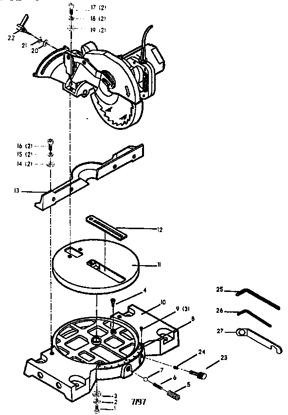 Delta model 36-040 miter saw genuine parts