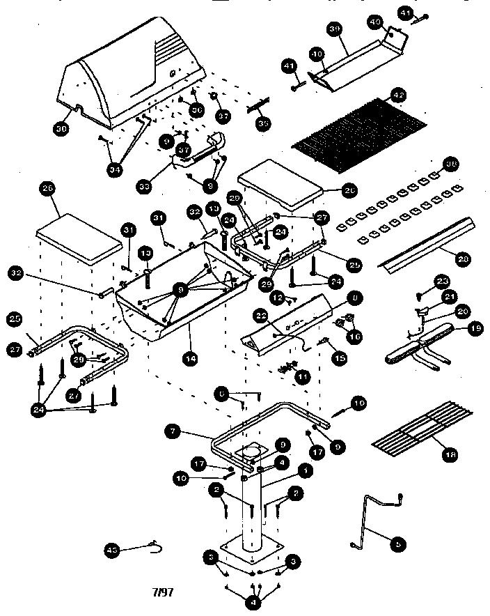 Kenmore model 41515672 grill, gas genuine parts