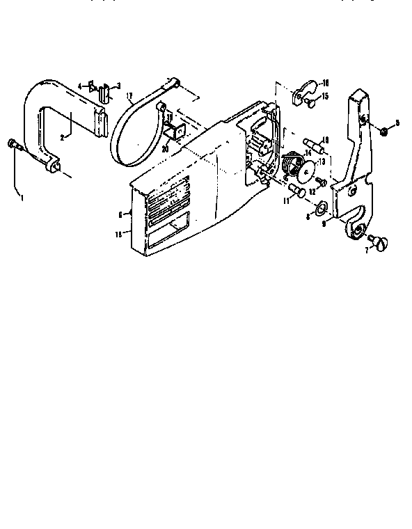 Mcculloch model PRO MAC 610 12-,13-600041-23 chainsaw