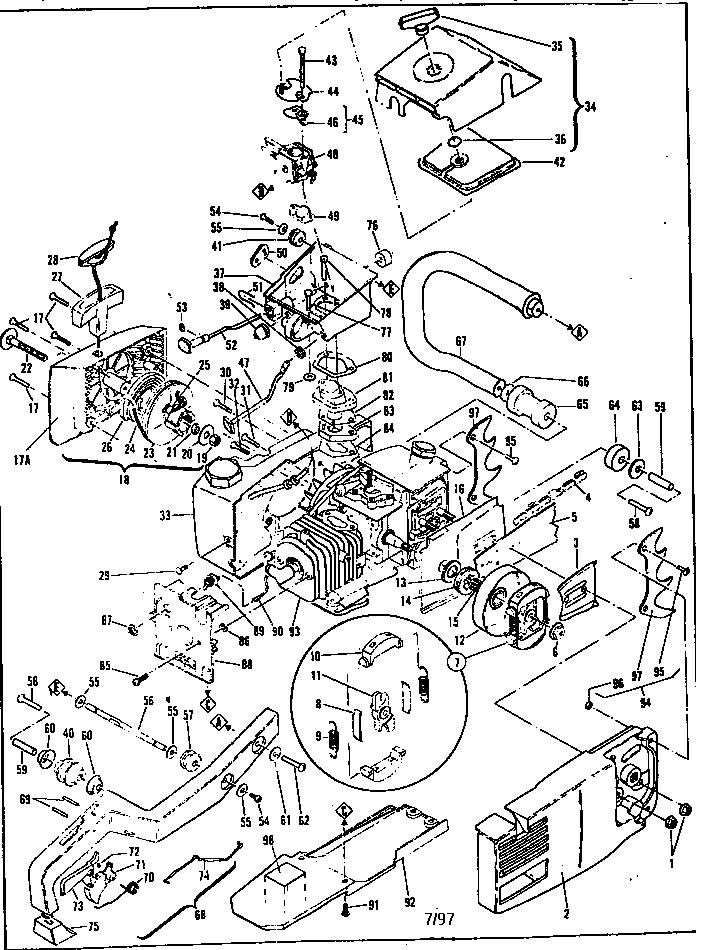 Mcculloch model SUPER PRO MAC 610 13-600041-04 chainsaw