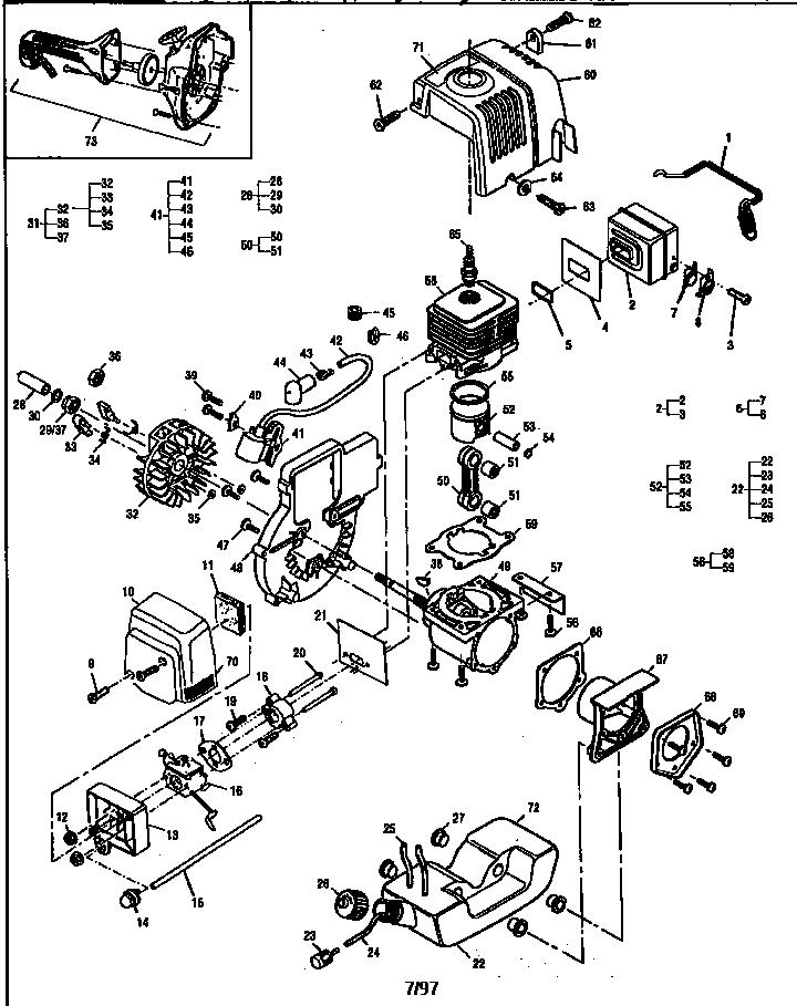 Mcculloch model SILVER EAGLE 32 BC 12-400132-22 line
