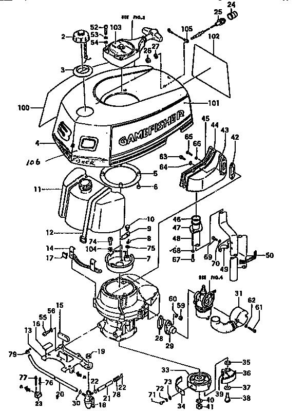 Craftsman model 298586194 boat motor gas genuine parts