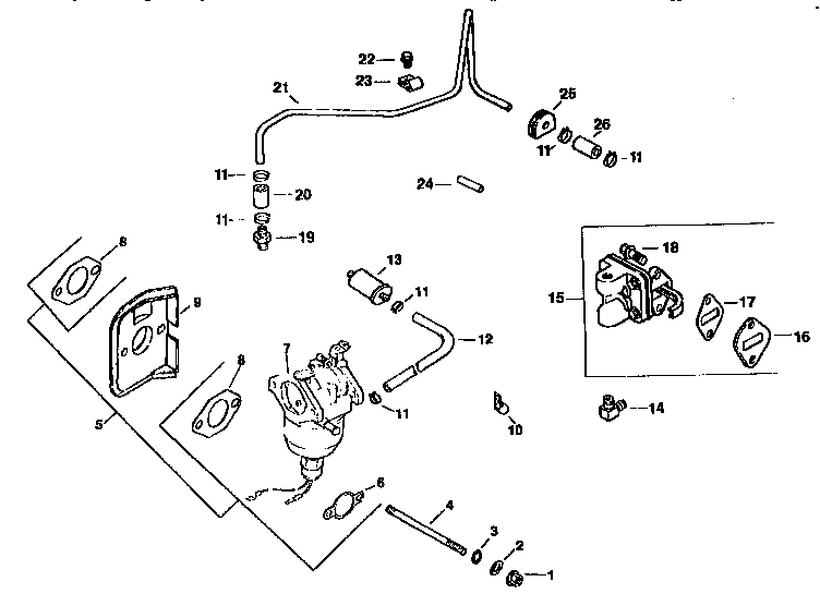 Kohler model CV15S-41565 engine genuine parts