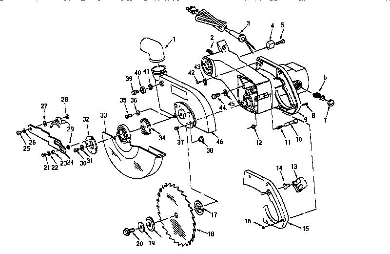 Craftsman model 113234940 miter saw genuine parts