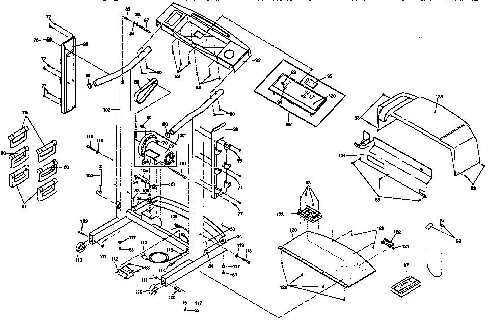 Proform model 831297460 treadmill genuine parts