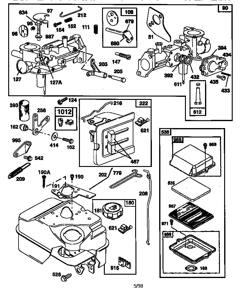 Briggs-Stratton model 137202-1116-E1 engine genuine parts