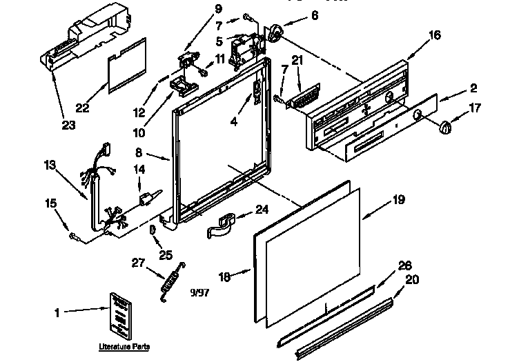 Kenmore 665 Dishwasher Model Number Location A Unit Model