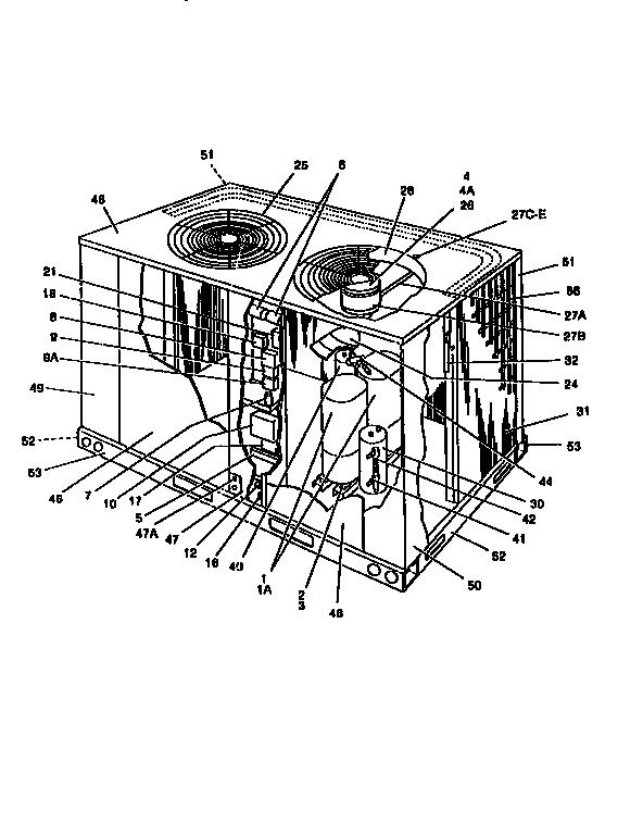 York model E1FB120A25 air-conditioner/heat pump(outside