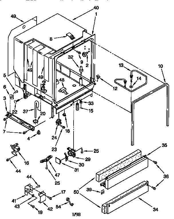 Kenmore model 66516791791 dishwasher genuine parts