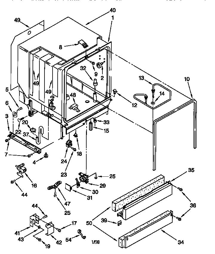 Kenmore model 66516798791 dishwasher genuine parts