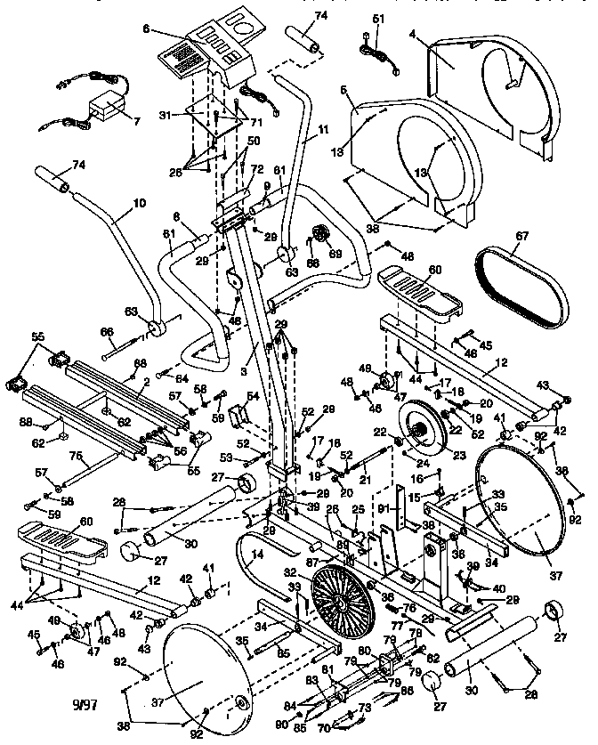 Lifestyler model 831285770 elliptical genuine parts