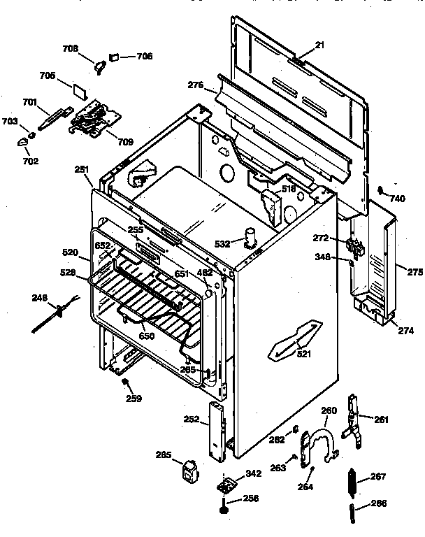 Ge model JBP19GS2 ranges, electric genuine parts
