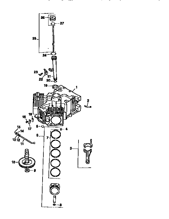 Kohler model CV18S-61533 engine genuine parts