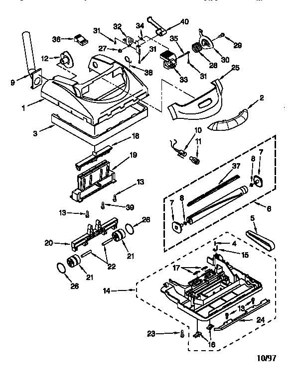 Kenmore model 11638412790 vacuum, upright genuine parts