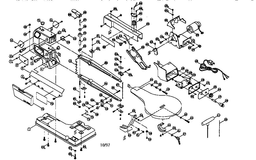 Craftsman model 137216000 saw scroll genuine parts