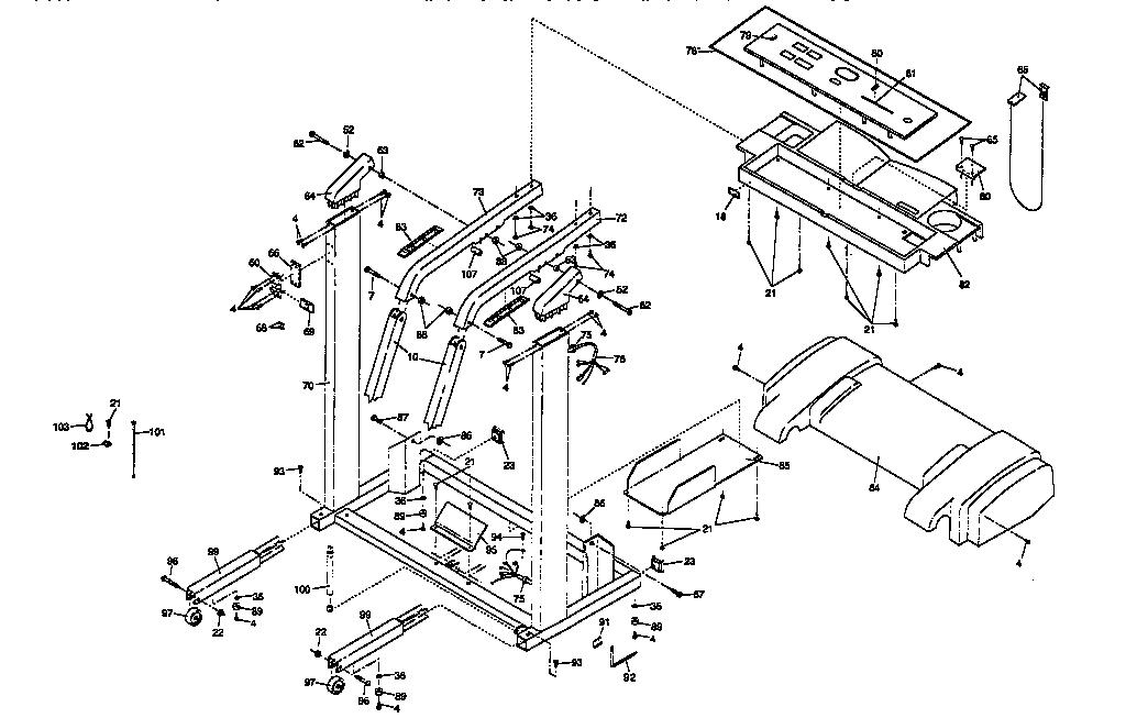 Proform model 831297680 treadmill genuine parts