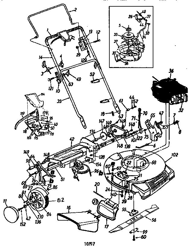CRAFTSMAN LAWN MOWER (SER# W/7K (1A107K) ETC.) Parts